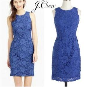 J. Crew Sleeveless Floral Lace Sheath Dress Size 6